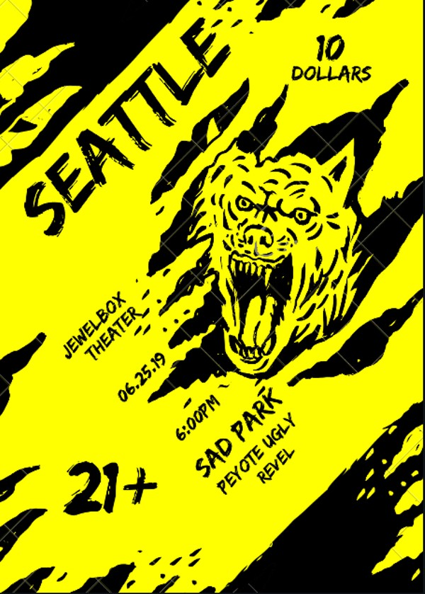 Sad Park (Los Angeles), Peyote Ugly, and Revel Live at the Jewelbox Theatre  Tickets | The Rendezvous | Seattle, WA | Tue, Jun 25 at 6:30pm |